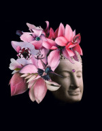 "Hummingbird Buddha - 14"" x 18"""